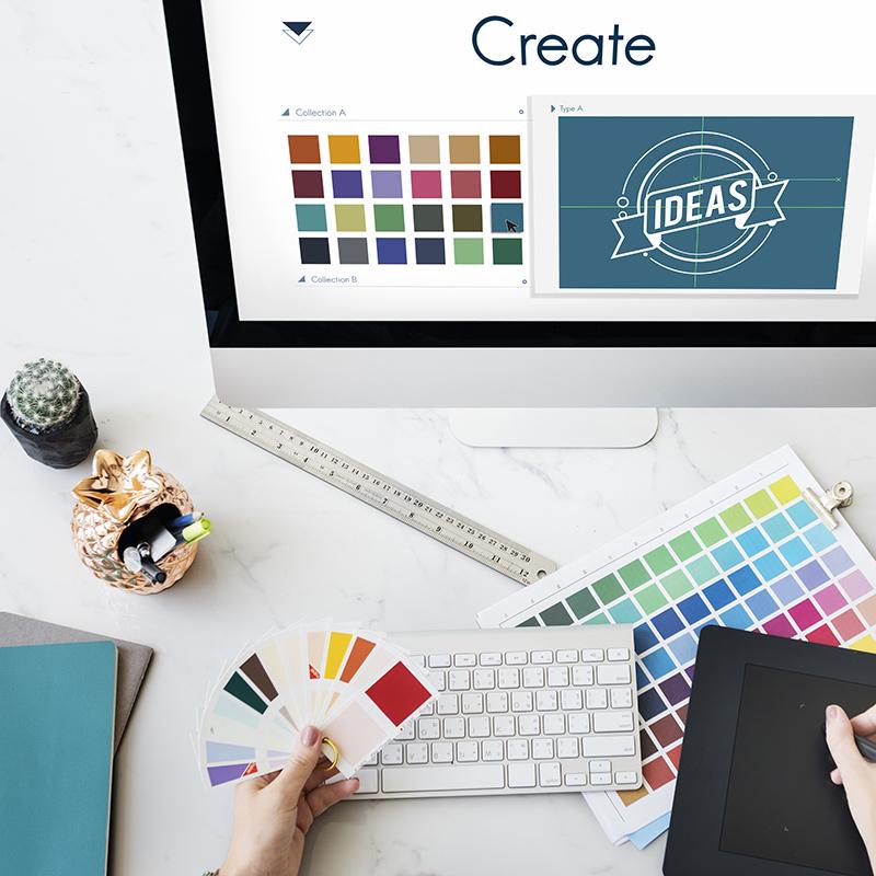 vormgeving en creatie marketing